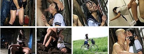 濡れ透けた制服を剥ぎ取られ雨の中で犯される女子校生 辻本杏2